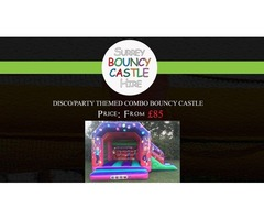 Disco/Party themed Combo Bouncy Castle Hire