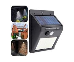 2pcs Solar Powered 30 LED PIR Motion Sensor Waterproof Wall Light for Outdoor Garden Yard 3 Modes
