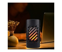 5W Portable bluetooth Speaker LED Flame Effect Lamp Touch Control Colorful Atmosphere Night Light