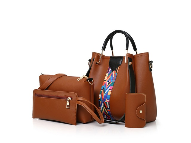 Women 4 Pcs Leisure Bucket Bag Handbag Crossbody Bag | free-classifieds.co.uk