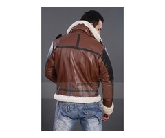 B3 BOMBER MEN'S DARK BROWN REAL LEATHER JACKET | free-classifieds.co.uk