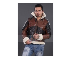 B3 BOMBER BROWN REAL LEATHER JACKET