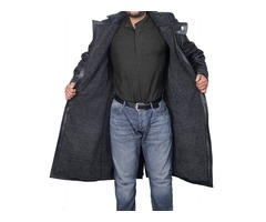 Blade Runner Ryan Gosling Men's Black Leather Fur Jacket