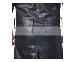 Blade Runner Ryan Gosling Men's Black Leather Fur Jacket | free-classifieds.co.uk