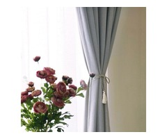 Silver Grey Curtains with Eyelets-Voila Voile