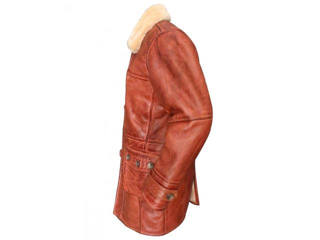 Dark Knight Rises Bane Coat Real Sheepskin Fur Leather Jacket    free-classifieds.co.uk