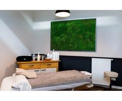 The Unique Design of Moss Walls Living Room