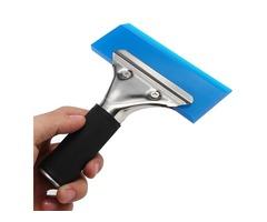 Window Film Tint Tool Blade Scraper Water Squeegee Tool With Handle Blue