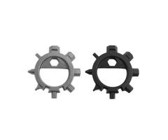 IPRee Outdooors EDC 12 Functions Screwdriver Mini Key Chain Tool Repair Tool kit Camp Multi Use