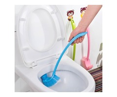 Honana BX-131 Thick Plastic Long Handle Toilet Brush Double Corner  Cleaning Brush For Bathroom Acce