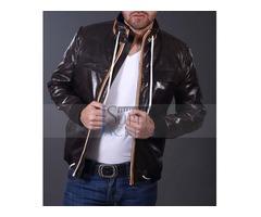 Cyber Monday| David Beckham White Lease Leather Jacket
