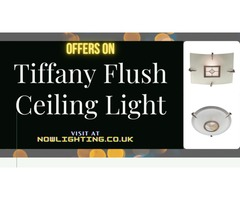 Tiffany Flush Ceiling Light - Nowlighting