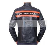 Harley Davidson Black Cowhide Leather Jacket