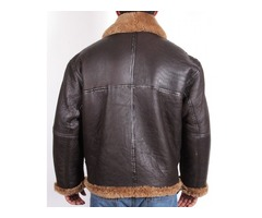 Happy Christmas| Aviator B3 Brown Fur Bomber Leather Jacket