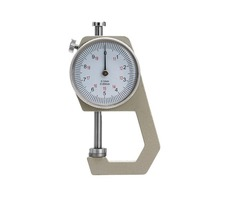 Round Dial Thickness Gauge Range 20mm Accuracy 0.1mm Metal Paper Leather Craft Tool