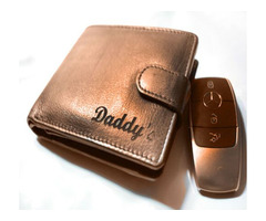 Engraved Wallet For Dad