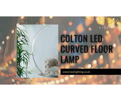 Colton LED Curved Floor Lamp - Nowlighting