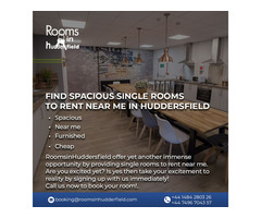 Find spacious single rooms to rent near me in Huddersfield