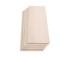 310x100mm 5Pcs Balsa Wood Sheet 7 Thickness Light Wooden Plate for DIY Airplane Boat House Ship Mode