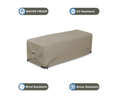 Fire Pit Cover Rectangular 12 Oz Waterproof - 100% UV & Weather Resistant Custom Size Gas Fire P | free-classifieds.co.uk