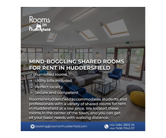 Mind-Boggling shared rooms for rent in Huddersfield