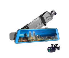 V5 10 Inch Streaming Media Full Screen Touch Dual Lens Car DVR