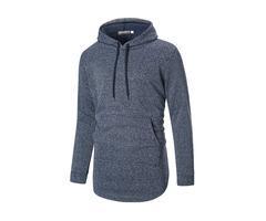 Men's Cotton Overhead Casual Hooded Long Sleeve Sweatshirt