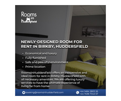 Newly-designed room for rent in Birkby, Huddersfield