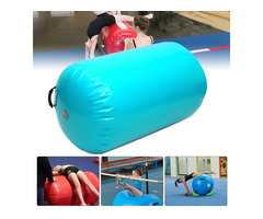 35.49x41.39inch Inflatable Gymnastic Air Rolls Beam Yoga Gymnastics Cylinder Airtrack Exercise Colum