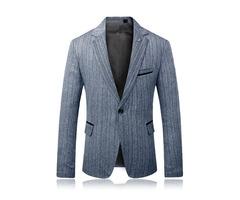 Mens Plus Size Stripe Design Sim Fit Suit Jacket Blazer