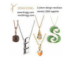 Custom made 925 sterling silver necklace OEM manufacturers