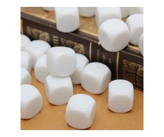 25PCS 16mm Gaming White Dice Standard Six Sided Die RPG For Board Game Birthday Parties