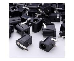50pcs DC-005 3Pin Black DC Power Jack Socket Connector 5.5*2.1mm