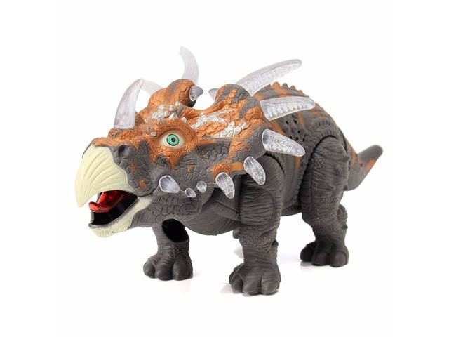 Emulational Triceratops Play Set Light Up Sound Walking Dinosaur World Toy | free-classifieds.co.uk