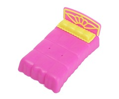 Miniature Bed Dollhouse Toy For Doll Bedroom Furniture Decoration