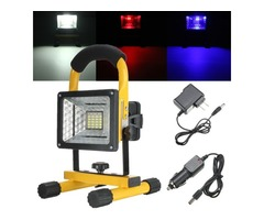 10W 24LED Portable Rechargeable Outdoor Camp Flood Light Spot Work Trouble Lamp