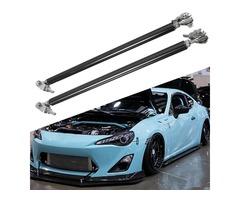 Car Adjustable Front Rear Frame Bumper Protector Splitter Rod Support 11 inch-13 inch  Black