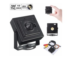 "Mini Pinhole HD 700TVL 1/3"" 3.7mm Wide Angle Board Lens CCTV Security PAL Camera"
