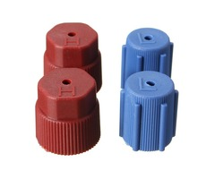 4Pcs R134a 14mm/16mm A/C Charging Port Service Hi Low Side Caps Red and Blue