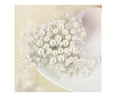 Bride Pearl Crystal Bead Hair Bomb Bridal Weddig Headpiece Hair Accessories