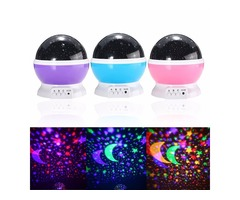Rotating Romantic LED Starry Table Night Sky Projector Lamp Baby Kids Gift Star Light