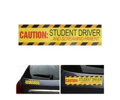 Caution Student Driver Car Stickers Safety Warning Sign Magnet Reflective Decal