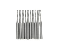 10pcs 19*4.5 mm Carbide Burs Cylindrical Fissure Shaped Tungsten Steel Carbide Burs