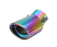 60mm Stainless Steel Universal Curved Car Exhaust Muffler Pipe For Chevrolet Toyota Ford Suzuki