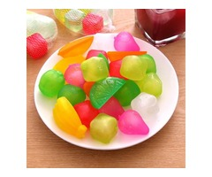 6Pcs Reusable Plastic Ice Cubes Multi-color Cool Cold Drinks Bar Barbecue BBQ Used