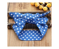 Print Floral Bowknot Hair Band Turban Knot Headbrand Head Wrap Baby Kids Children