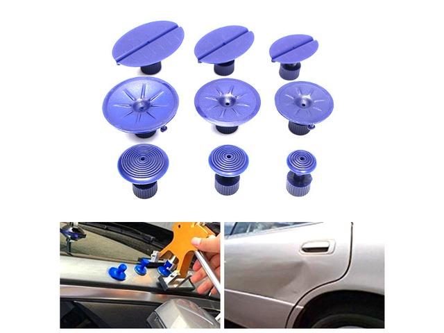 9pcs Car Dent Repair Pulling Tabs Paintless Body Slide Damage Removal Tool Blue   FreeAds.info