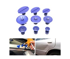 9pcs Car Dent Repair Pulling Tabs Paintless Body Slide Damage Removal Tool Blue