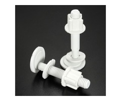 2Pcs 2.9x2.9cm Round Toilet Seat Screws Fitting Repair Hinges