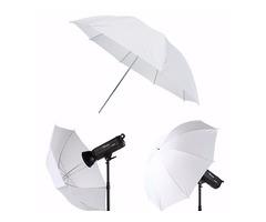 43 inch Photography Video Studio Diffuser Translucent Flash Soft Umbrella White Reflector